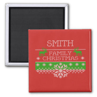 Smith Family Christmas Celebration Magnet