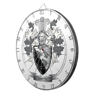 Smith Family Crest Coat of Arms Dartboard