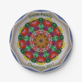 SMITH FAMILY ~ Personalized Christmas Design ~ Paper Plate
