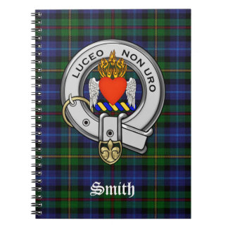 Smith Family Tartan Plaid and Clan Crest Badge Notebook