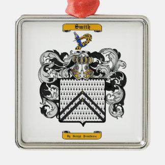 Smith (Kent) Silver-Colored Square Ornament