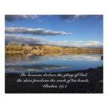Smith Reservoir Reflects the Glory of God Poster