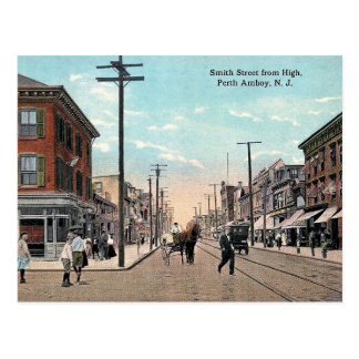 Smith St, Perth Amboy, New Jersey Vintage Postcard