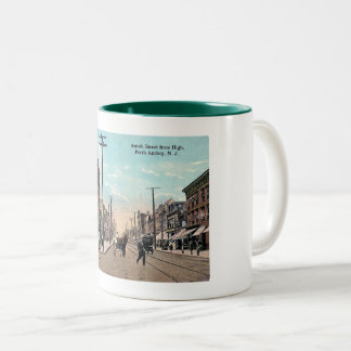 Smith St, Perth Amboy, New Jersey Vintage Two-Tone Coffee Mug
