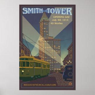Smith Tower - Seattle, Washington Travel Poster