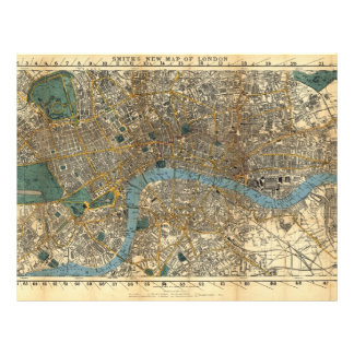 Smith's new map of London 1860 Flyer Design
