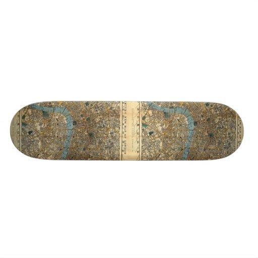 Smith's new map of London 1860 Custom Skateboard
