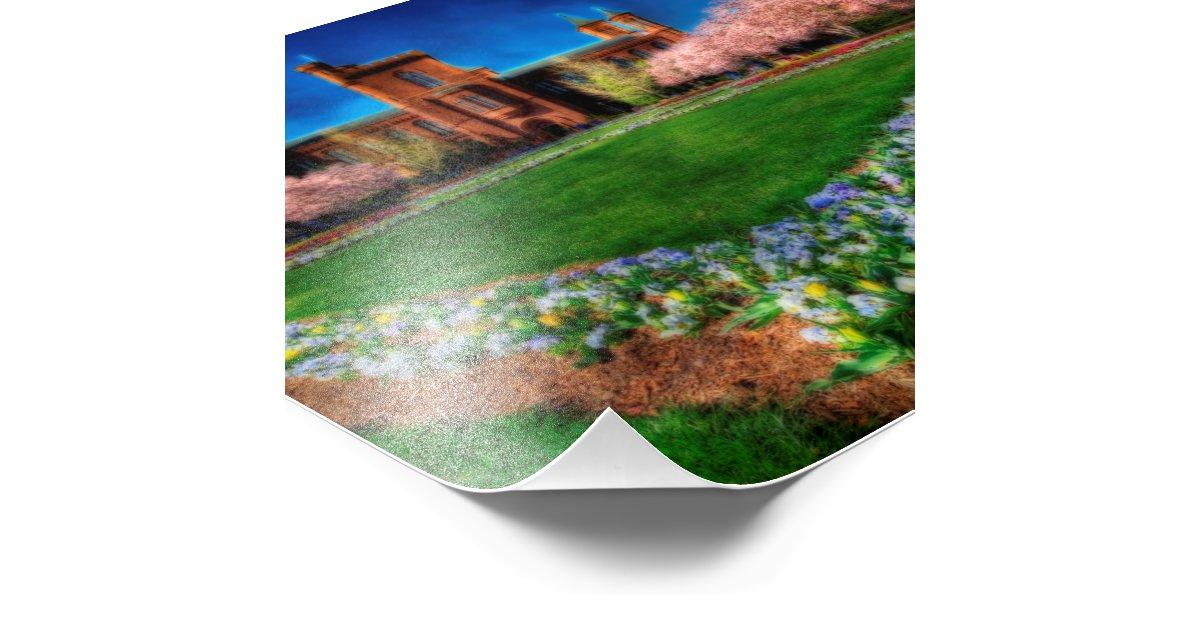 Smithsonian castle garden spring blossoms photo print zazzle for Xd garden design