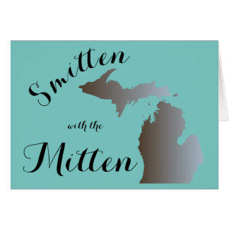 """Smitten with the Mitten"" (Blank inside) Card"