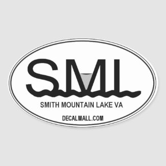 SML Auto Window Decal Smith Mountain Lake Virginia Oval Sticker