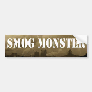 Smog Monster Bumper Sticker