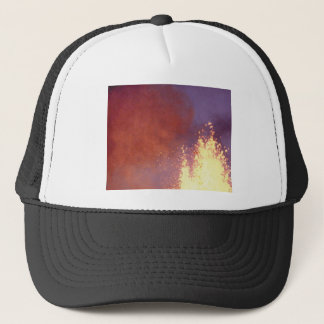 smoke and fire trucker hat