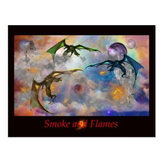 Smoke and Flames Postcard