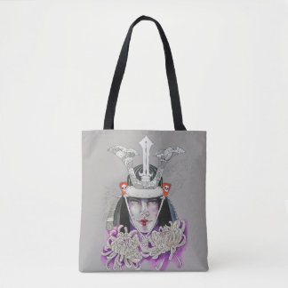 Smoke and flowers tote bag