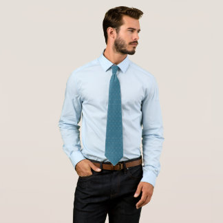 Smoke Blue Ornate Jacquard Star Pattern Tie