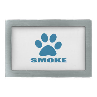 SMOKE CAT DESIGNS RECTANGULAR BELT BUCKLES