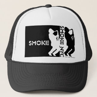 Smoke Dbl. Saxman Hat - Negative