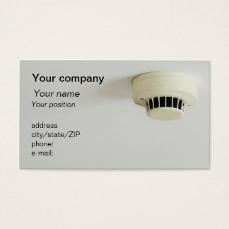 """Smoke detector"" business card"