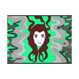 Smoke face canvas print