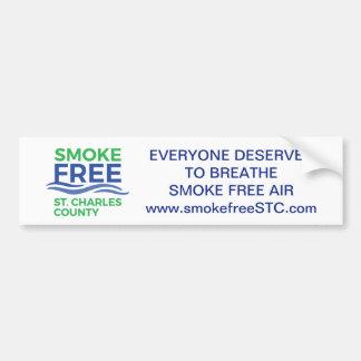 Smoke Free STC bumper sticker