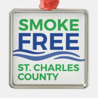 Smoke Free STC Products Metal Ornament