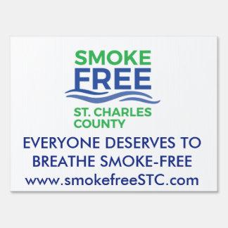 Smoke Free STC Yard Sign