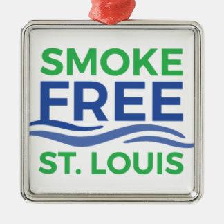 Smoke Free STL Products Metal Ornament