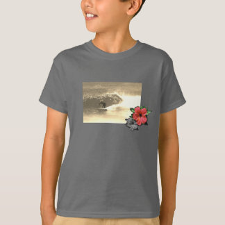 Smoke-Grey-Island-beach-surf-Tee-for-kids T-Shirt