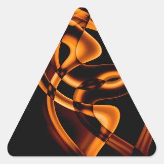 Smoke n Gold (3).JPG Triangle Sticker
