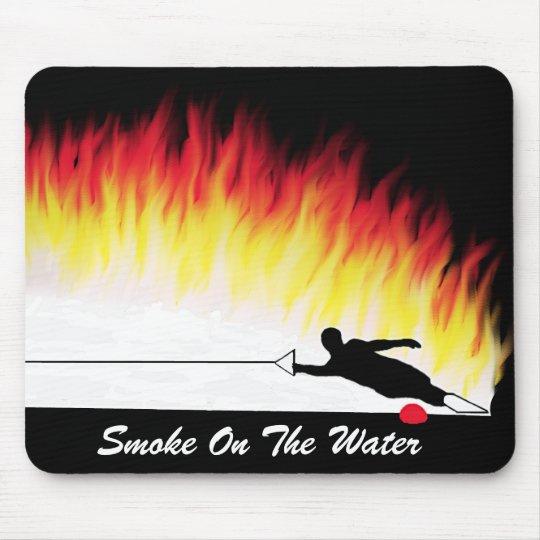 """""""Smoke On The Water"""" Water Ski Mousepad"""