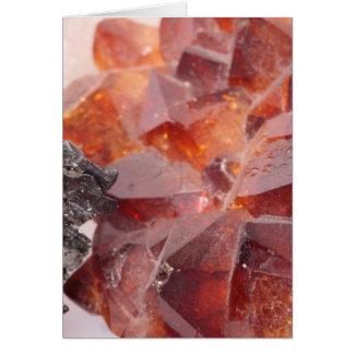 Smoke quartz and pyrite card