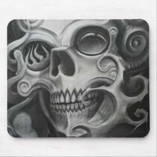 Smoke Skull Mouse Pad