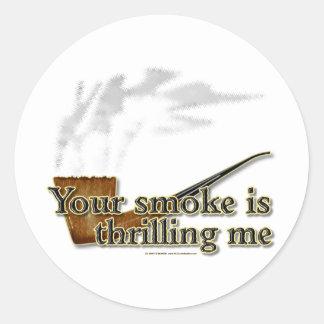 Smoke Thrills Classic Round Sticker