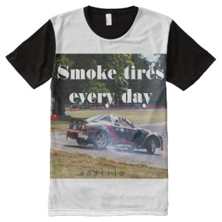 Smoke Tires Every Day Zombiata All-Over-Print T-Shirt