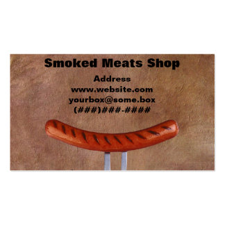 Smoked Meats Shop Business Card