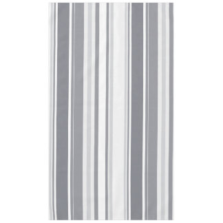 Smoked Pearl Stripes Varied Geometric Pattern Tablecloth