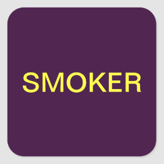 Smoker Medical Chart Labels Square Sticker