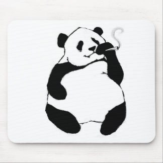 Smoker Panda Mouse Pad