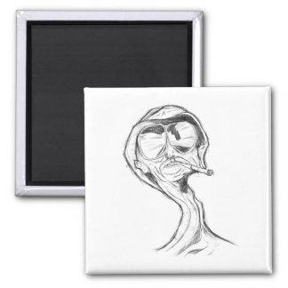 Smoker Square Magnet