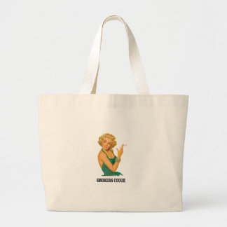 smokers cough lady large tote bag