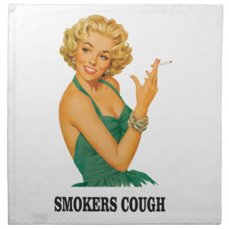 smokers cough lady napkin