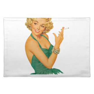 smokers cough lady placemat