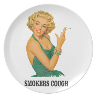 smokers cough lady plate