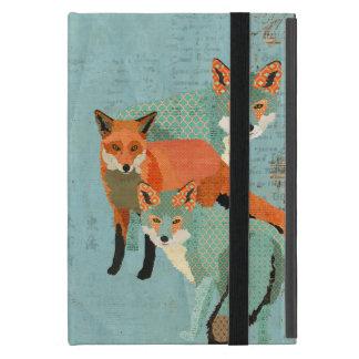Smokey Amber Foxes Blue Case