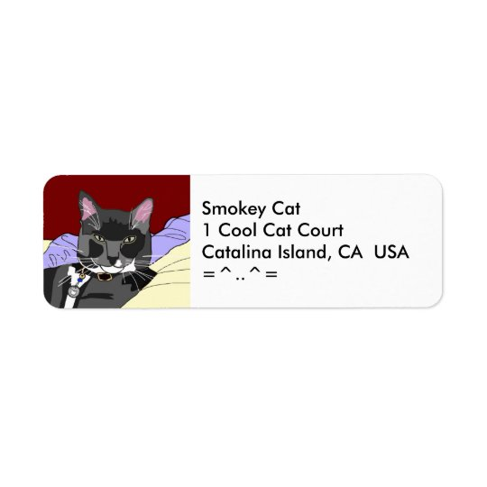 Smokey Cat Address Label