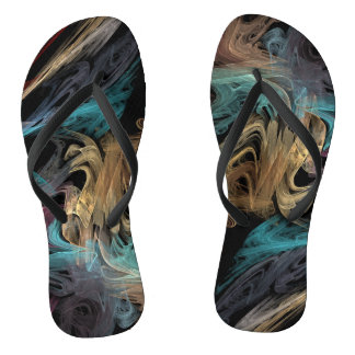 Smokey Fractal Flip Flops
