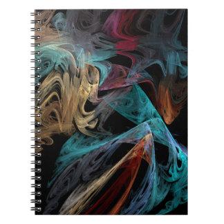 Smokey Fractal Spiral Notebook