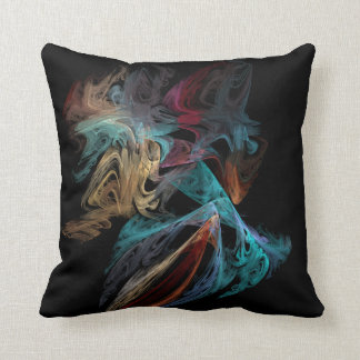 Smokey Fractal Throw Pillow