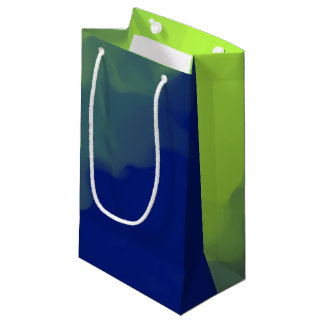 Smokey Green and Dark Blue Small Gift Bag