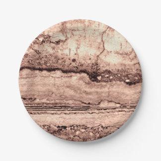 Smokey grey granite paper plate